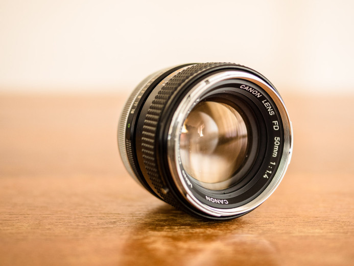 "Canon FD 50mm f/1.4 ""Chrome Nose"" Prime Lens"