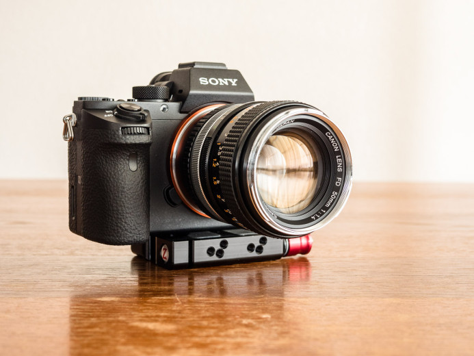 Mount FD lens on adapter