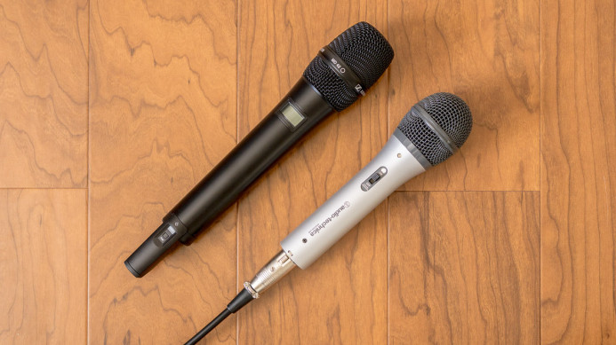 AVX handheld mic is about the same length as a standard mic & an