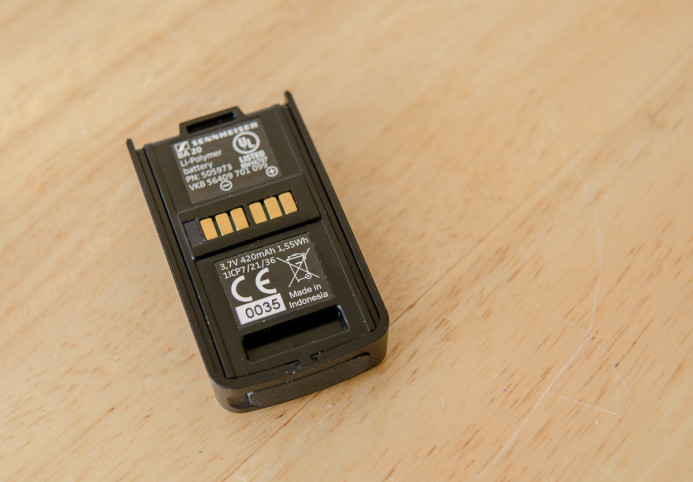 AVX receiver's small battery pack is only 420mAh