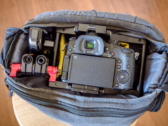 Cage in camera bag