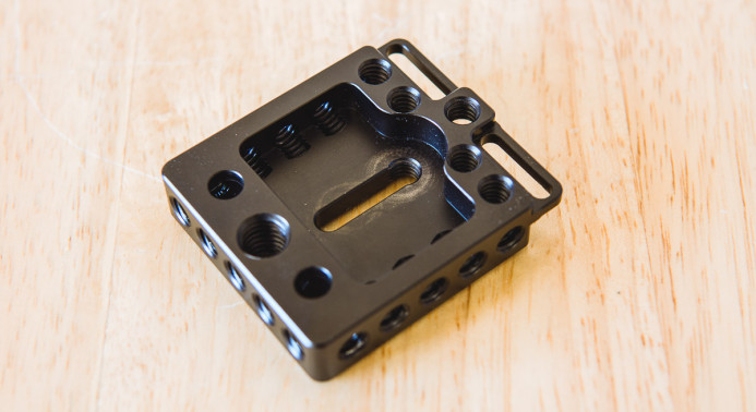 Only two central mounting points on baseplate
