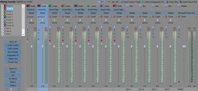 Vegas Pro Audio Mixing