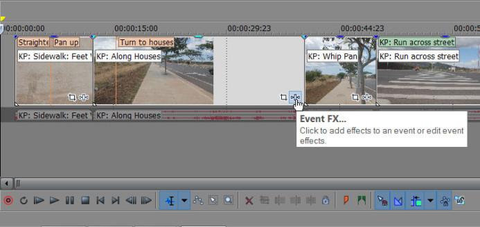 Open Event FX dialog