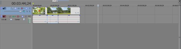 After Script: GH4 clips properly aligned on timeline