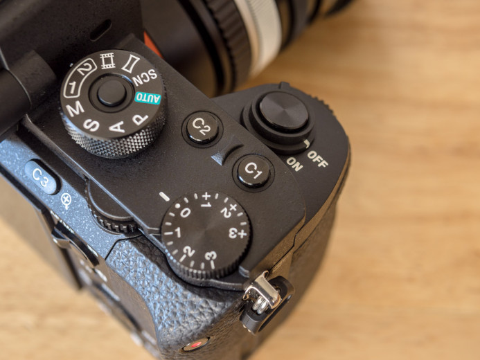 Customizable hardware buttons on the Sony a7S II