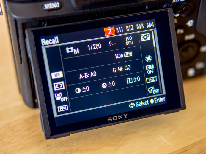 Sony a7S II Custom Preset for Shooting 120fps Slow-motion