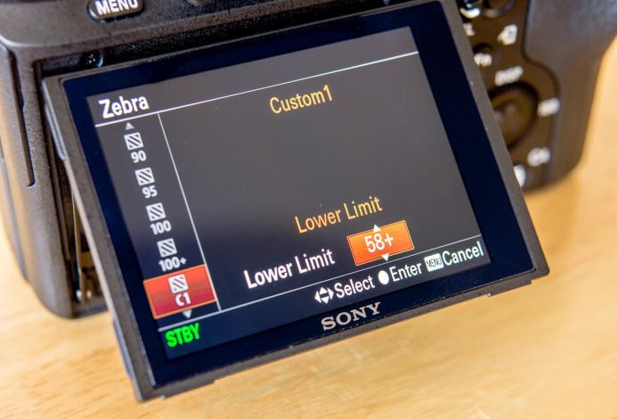 Sony a7S II Custom Zebra setup