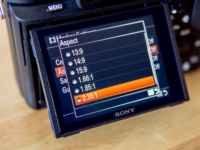 Sony a7S II Aspect Ratio Guides