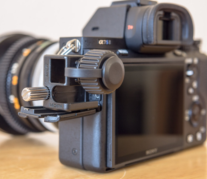 Sony a7S II HDMI Port Protector Installed