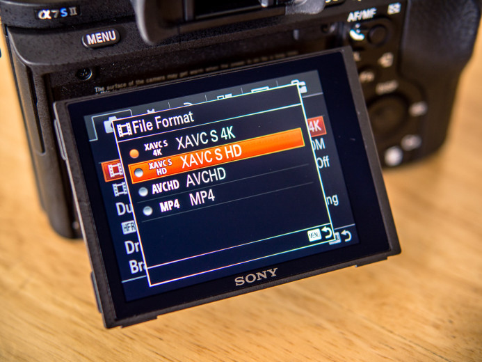 Shooting in HD on the Sony a7S II