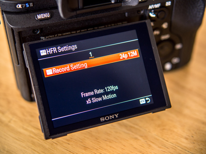 HFR Settings on the Sony a7S II