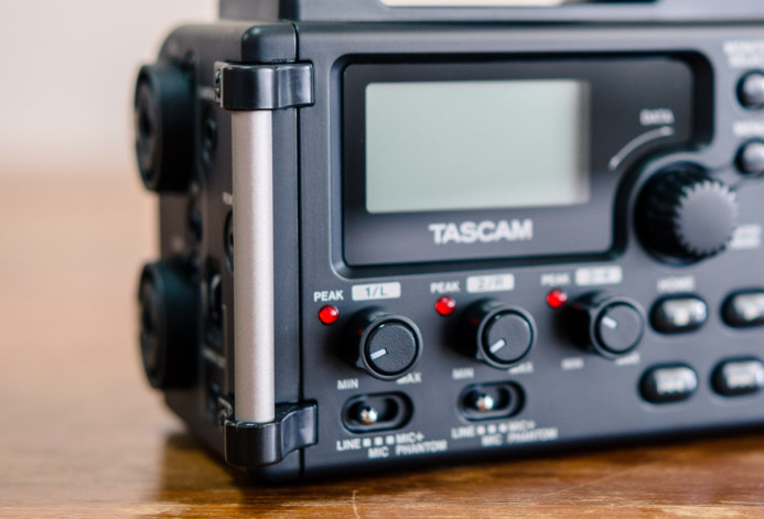 Tascam DR-60D's integrated handles allow you to attach a neck st