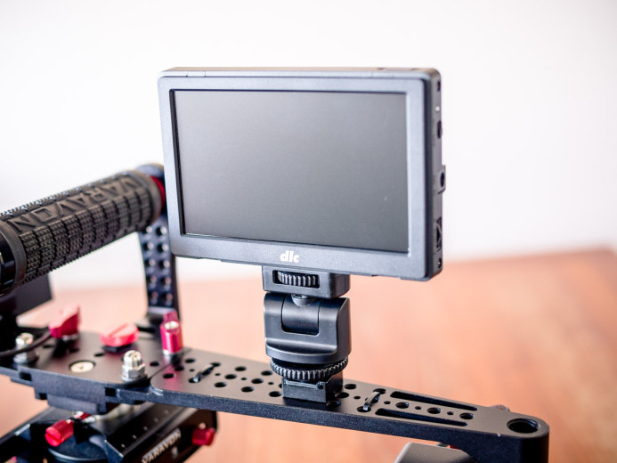 Monitor mounted on Birdycam 2's arm