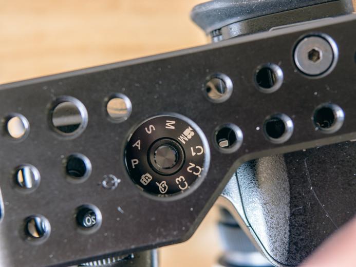 Mode dial cutout