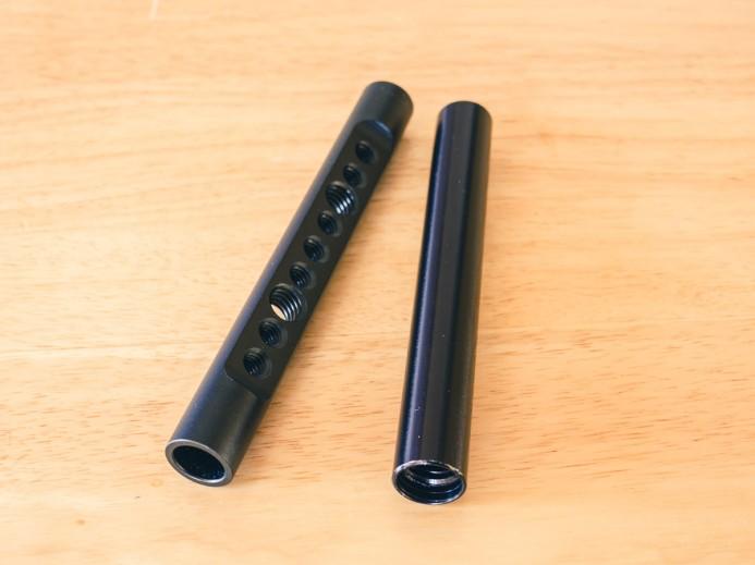 Vertical rod is standard 15mm rod