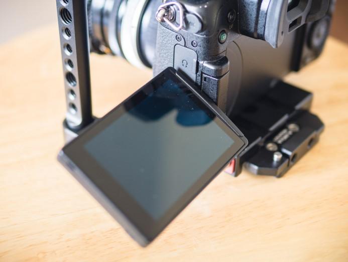 LCD screen has full range of motion