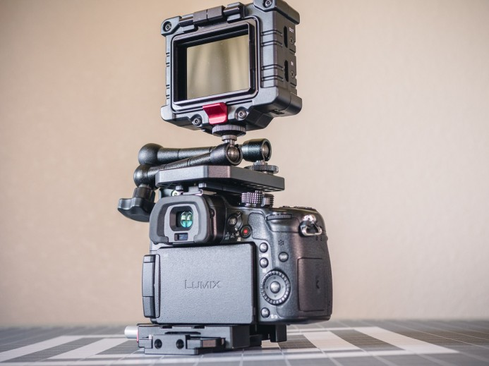 Zacuto EVF mounted on Quick Cage